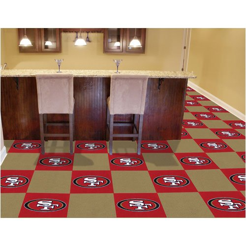 San Francisco 49ers NFL Team Logo Carpet Tiles by Fanmats