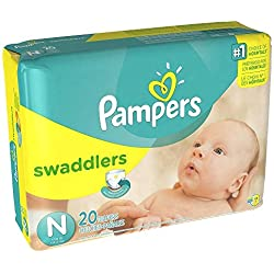 Pampers Swaddlers Diapers, 20 Count