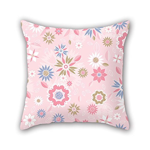 NICEPLW 16 X 16 Inches / 40 By 40 Cm Flower Cushion Cases ,each Side Ornament And Gift To Seat,couples,boy Friend,shop,bar Seat,bedroom