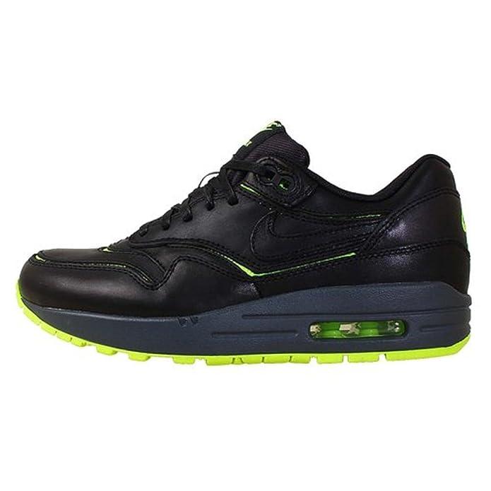 Nike Air Max 1 Ausschnitte Premium Sneakers Schwarz / Volt / dunkelgrau / schwarz (10.5)