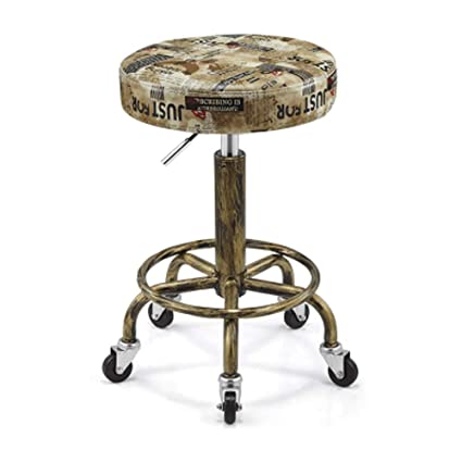 Vintage Kitchen Bar Stools Delectable Amazon DR Retro Steel Bar Stools Hairdressing Chair 7090 2