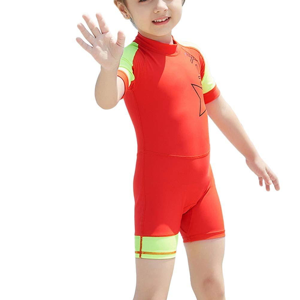 8bb84df57d5b Amazon.com: LIOOBO One-Piece Children Surf Swim Wet Suit Long Sleeve UV  Proof Fast Drying Sun Protection Sets Wear - Size L: Sports & Outdoors
