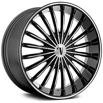 Amazon Com 24 Inch Velocity Vw11 Black Machine Wheels Rims Only