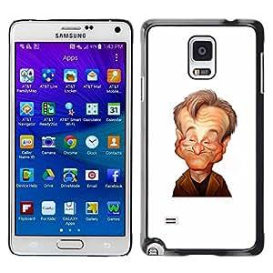 TopCaseStore / la caja del caucho duro de la cubierta de protección de la piel - Comedian Stand Up Caricature - Samsung Galaxy Note 4 SM-N910F SM-N910K SM-N910C SM-N910W8 SM-N910U SM-N910