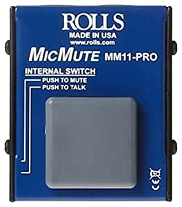 rolls MM11PRO Switchable Microphone Mute/Talk Professional Microphone Switch