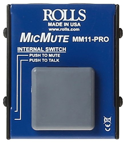 Mic Mute (rolls MM11PRO Switchable Microphone Mute/Talk Professional Microphone Switch)