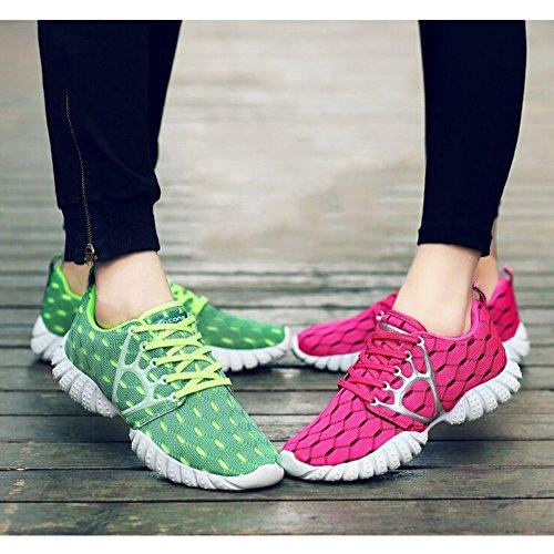 Fereshte Couple Unisexes Hommes Casual Mode Sneakers Sport Athlétique Chaussures De Course Hommes-vert
