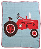 Green 3 Throw Blanket, Tractor
