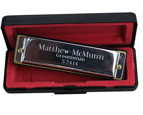 Custom Personalized Stainless Steel Hohner Harmonica – Ring Bearer Groomsmen Gift – Engraved and Monogrammed for Free 51ib 28o7uL  Home 51ib 28o7uL