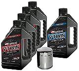 MaximaHiflofiltro VTTOCK11 Complete Engine Oil Change Kit for V-Twin Full Synthetic Harley Davidson Sportster, 5 quart