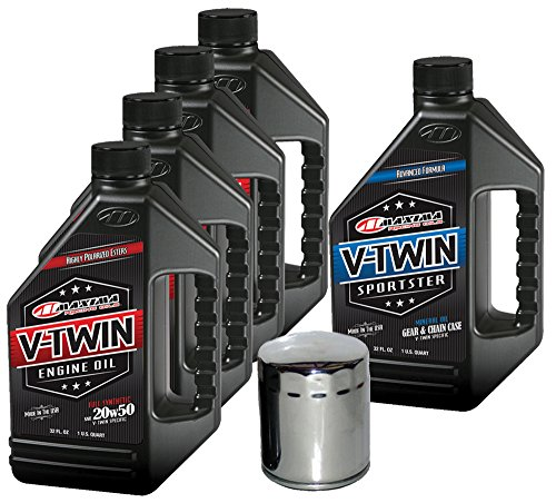 MaximaHiflofiltro VTTOCK11 Complete Engine Oil Change Kit for V-Twin Full Synthetic Harley Davidson Sportster, 5 Quart