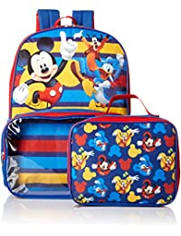 Boys' Mickey Backpack with Lunch Window Pocket, Blue