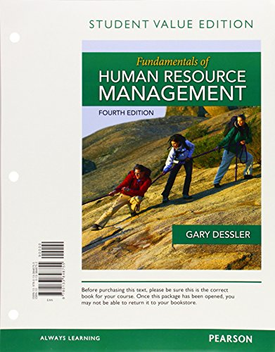 Fundamentals Of Human Resource Management, Student Value Edition (4th Edition)