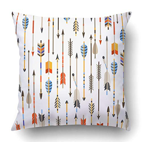- Custom Ethnic Indian Arrows in Native Pillowcase Throw Pillow Cover Case 16x16 inches