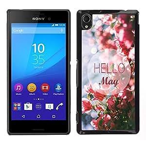 King Case - FOR Sony Xperia M4 Aqua - Hello May - Caja protectora de pl??stico duro Dise?¡Àado