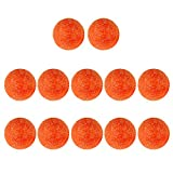 Dovewill Table Soccer Foosballs Replacements 36mm Official Tabletop Game Ball, Set of 12, Orange