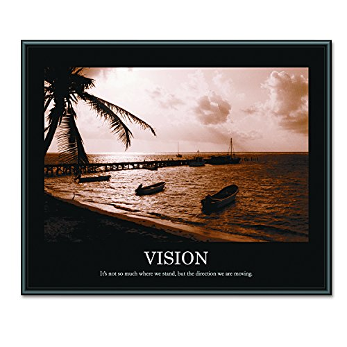 - ADVANTUS Framed Motivational Print, Vision, Sepia-Tone, 30 x 24 Inches, Black Frame (78163)