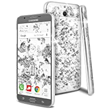 Galaxy J7 2017 Case, Galaxy J7 V Case, Galaxy J7 Sky Pro Case, Galaxy J7 Perx Case, Celljoy [Metallic Flake] High Density {Scratch-Resistant} Acrylic Deluxe Protective Clear Thin Hard Cover (Silver)