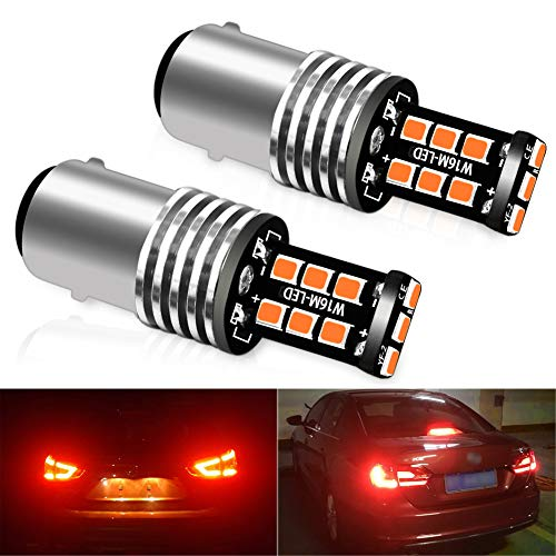 CIIHON 1157 LED Brake Lights Bulb Lamp Bay15d Red 2057 7528 12V 15-2835SMD Backup Reverse Tail Parking Stop Bulbs Extremely Bright Replacement,1 Year Warranty(Pack of 2)