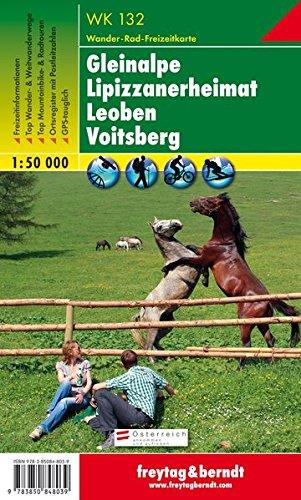 Gleinalpe - Lipizzanerheimat - Leoben - Voitsberg, Wanderkarte 1:50.000, WK 132, freytag & berndt Wander-Rad-Freizeitkarten