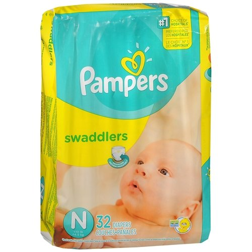 Pampers Swaddlers Diapers Size 2 Jumbo Pack 32 Ea pack of (Swaddlers Jumbo Pack)