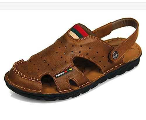 véritable hommes plage cuir arrivée main souple pour pour pantoufles hommes d'été pour rétro en classiques de cuir Nouvelle sandales 4 couture fait en de chaussures hommes AqOSYwY
