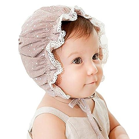 Summer Baby Girl Cap Sweet Cute Princess Hat Children Kids Baby Caps Newborn Photography Props for 0-24 - Summer Infant Sweet