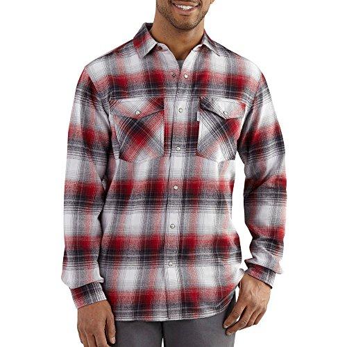 Carhartt Men's 102218 Trumbull Snap-Front Plaid Shirt