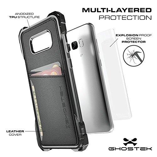 """Ghostek GHOCAS648 Schutzhülle """"Exec Series"""" für Samsung Galaxy S8 Plus Slim schwarz"""