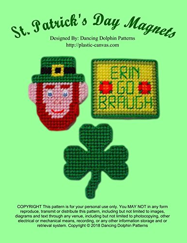 - St. Patrick's Day Magnets: Plastic Canvas Pattern
