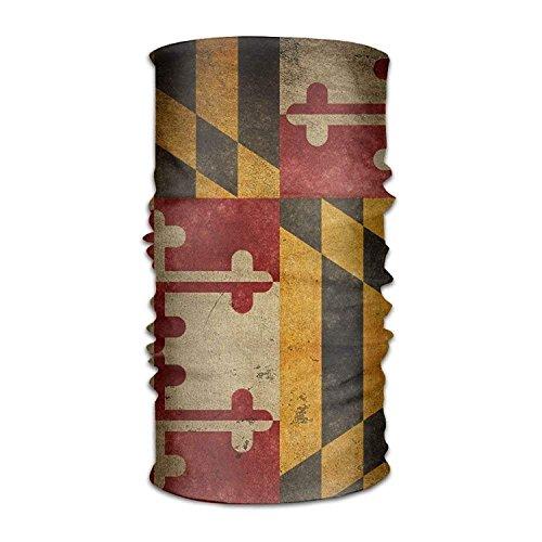 (crystars Headband Balaclava Bandanas Vintage Flag of Maryland Versatile Multifunction Headscarf Neck Gaiter Balaclava Helmet Liner Riding Face Mask for Kids Women Men Outdoors UV Protection)