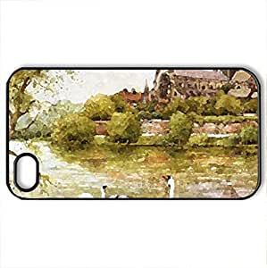 Fit For A King - Case Cover for iPhone 4 and 4s (Medieval Series, Watercolor style, Black)