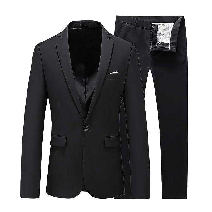 Amazon.com: UNINUKOO - Trajes de esmoquin para hombre, corte ...