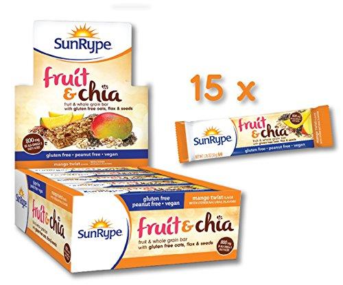 SunRype Gluten Free Mango Twist Fruit & Chia Bars (Case of (Mango Twist)