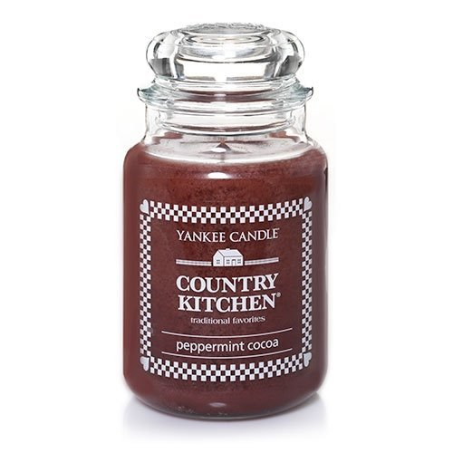 Yankee Candle Country Kitchen Large 22 Oz Jar Candle Peppermint Cocoa - Retired Scent