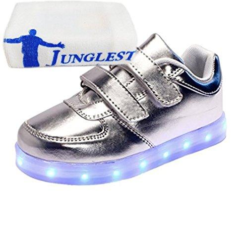 (Present:kleines Handtuch)JUNGLEST® 7 Farbe USB Aufladen LED Leuchtend Sport Schuhe Sportschuhe High Top Sneaker Turnschuhe für Unisex-Erwa c26