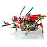 [ Motorial Alien Robot ] LOZ Robotic Building Set Block Toy ,Battery Motor Operated,3D Puzzle Design Alien Primate Robot Figure for kids and adults , Sturdy Enough ,122 parts(Cicada)