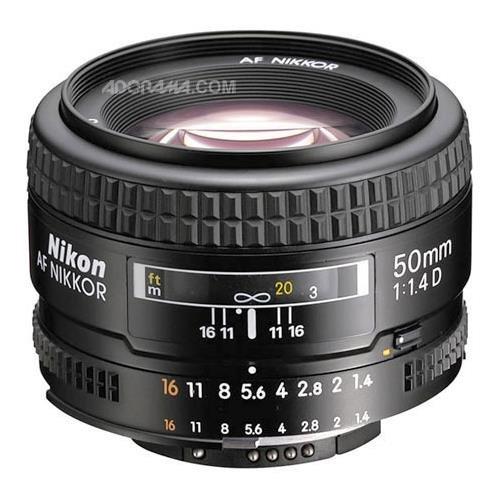 Nikon AF FX NIKKOR 50mm F/1.4D DSLR Lens with Auto Focus for Nikon DSLR Cameras