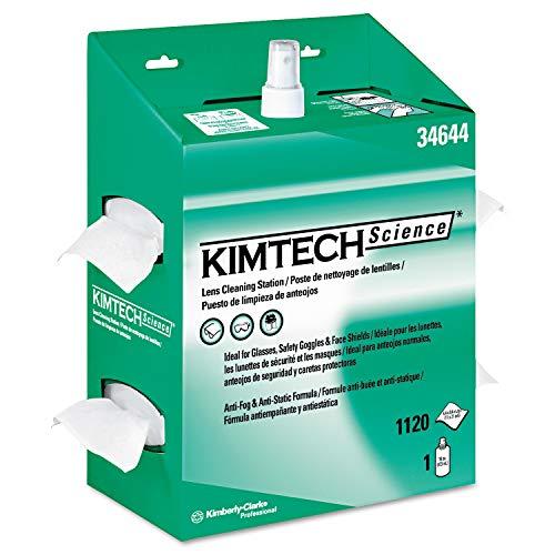 Kimtech Kimwipes Science Lens - Kimtech 34644 KIMWIPES Lens Cleaning, 16oz Spray, 4 2/5 X 8 1/2, 1120 Wipes/Box (Case of 4)