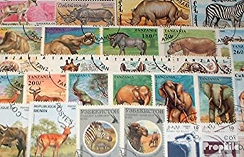 Africa 50 Different African Animals Stamps Stamps