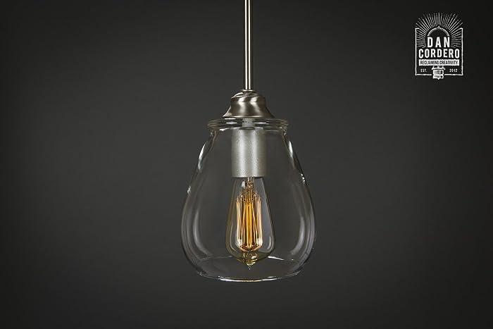 Amazon Com Pendant Light Fixture Edison Bulb Brushed