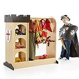 full length three way mirror - Guidecraft Children's Castle Dramatic Play Storage Center - Armoire, Dresser Kids' Furniture