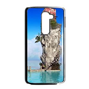 LG G2 Cell Phone Case Black House on Island BNY_6761263