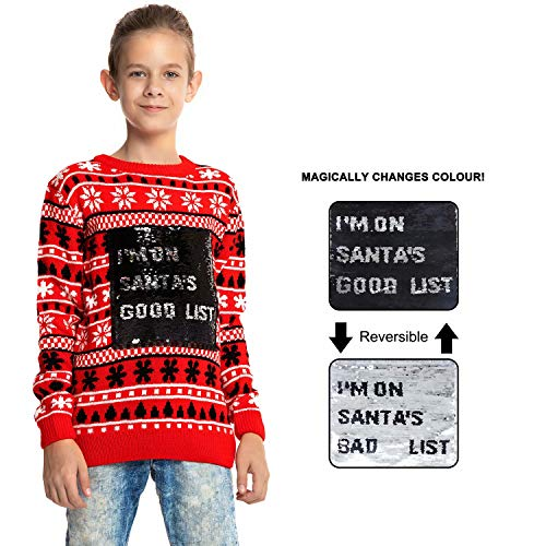 Price comparison product image U LOOK UGLY TODAY Childrens Kids Christmas Sweater,  X-Small (4-5 Years Old)