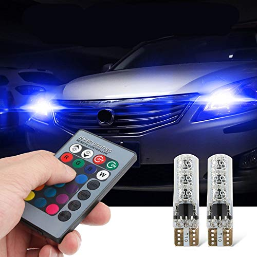 - Cacys-Store - T10 W5W Car Canbus LED RGB Parking Lights For Mitsubishi motors asx lancer 10 9 x outlander xl pajero sport 4 l200 carisma
