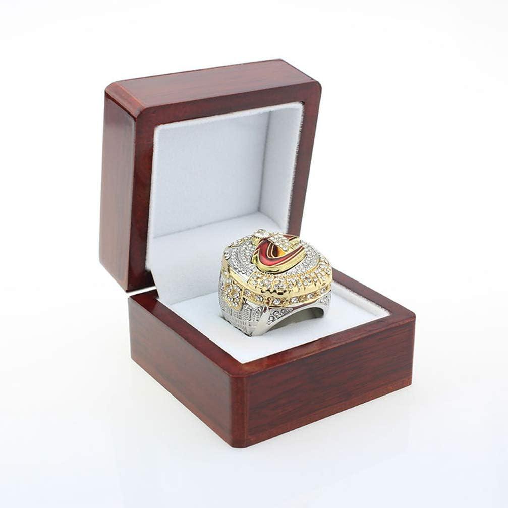 ZJL Europa Y América Anillos de Hombre, Anillos de Réplicas de Diamantes de Acero Inoxidable de Cleveland Cavaliers Championship Anillos de Diamantes para Hombres Recuerdos, 9-13,109