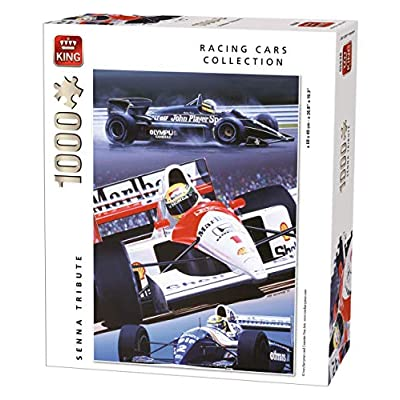 King 5628 Senna Tribute Puzzle Da Pezzi 49 X 68 Cm