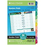 "Day-Timer 2019 Monthly Planner Refill, 5-1/2"" x 8-1/2"", Desk Size 4, Loose Leaf, Two Pages Per Month, Garden Path (13486)"
