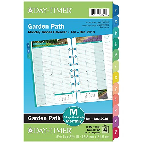 (Day-Timer 2019 Monthly Planner Refill, 5-1/2