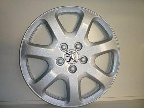 Juego de Tapacubos 4 Tapacubos Diseño Peugeot 307 r 16 () Logo Cromado: Amazon.es: Coche y moto